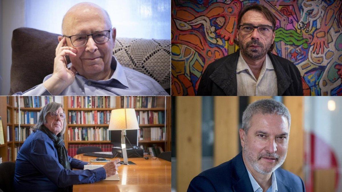 Joan Rigol, Camil Ros, Francesc Jufresa y Josep Ramon Bosch