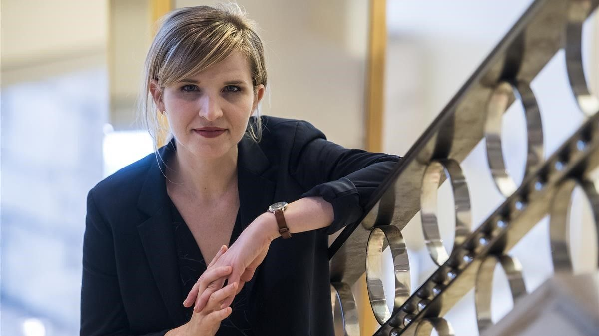 La historiadora y memorialista estadounidense Tara Westover, el pasado viernes en Barcelona.