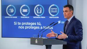 Pedro Sánchez, en rueda de prensa tras la reunión del Consejo de Ministros.