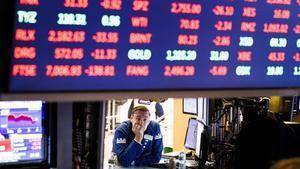 Un agente de bolsa de Wall Street en una imagen de archivo.