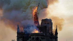 La catedral de Notre Dame, en llamas, el pasado 15 de abril del 2019.