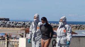 Detenida una mujer que debía estar en su domicilio por covid en San Sebastián.