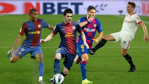 Etoo, Villa, Luis Suárez y Luuk de Jong.