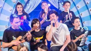 Miki con la JDN Mini Big Band en la nueva entrega de 'Juego de niños'.