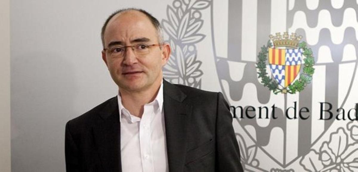 El diputado de CiU Ferran Falcó, en una rueda de prensa en Badalona, el pasado 7 de marzo.