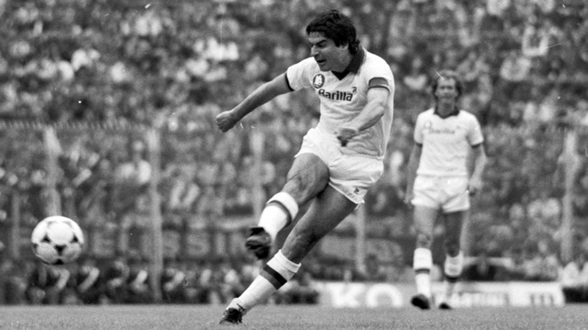 Agostino di Bartolomei, en el partido contra el Génova que dio el 'Scudetto' a la Roma en 1983.