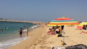 La playa de Mataró.