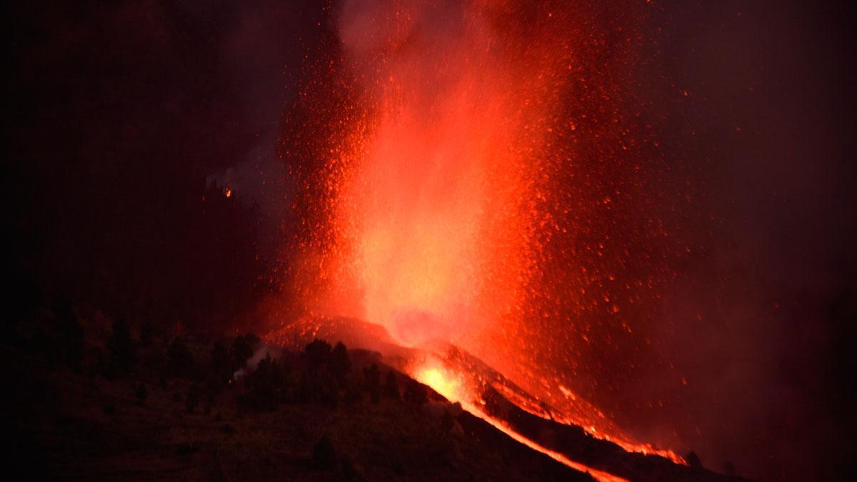 Erupción en el volcán de La Palma.