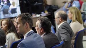 Imagen de algunos de los acusados durante el juicio.