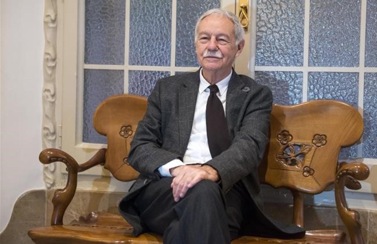 Mendoza, en octubre del año pasado en La Pedrera, en la presentación de 'El secreto de la modelo extraviada'.