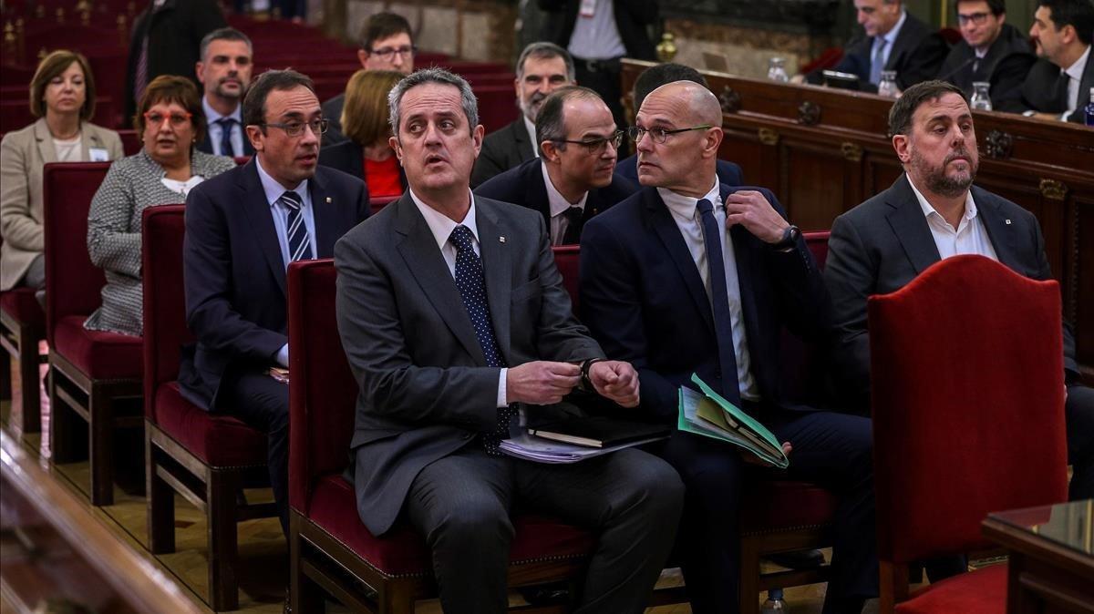 Imagen de archivo del juicio a los líderes independentistas.