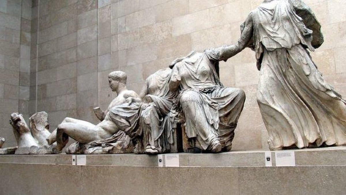 Esculturas del Partenón de Atenas exhibidas en el British Museum de Londres.