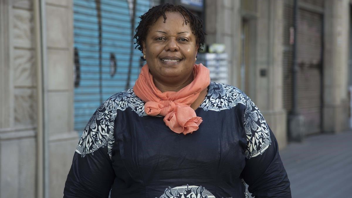 La abogada y activista congoleña Cathy Furaha, en Barcelona.