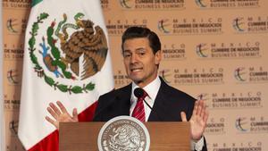 GUADALAJARAMEXICO- El presidente de MexicoEnrique Pena Nietoparticipa en la decimo sexta edicion de Mexico Cumbre de Negocioscon el temaEnfrentar los retos estrategicos de Mexico y la Regionen la Expo GuadalajaraJaliscoMexico.EFE Francisco Guasco