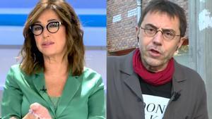 """Ana Rosa y Monedero se enzarzan en Telecinco: """"¡Qué pesados sois con el fascismo!"""""""