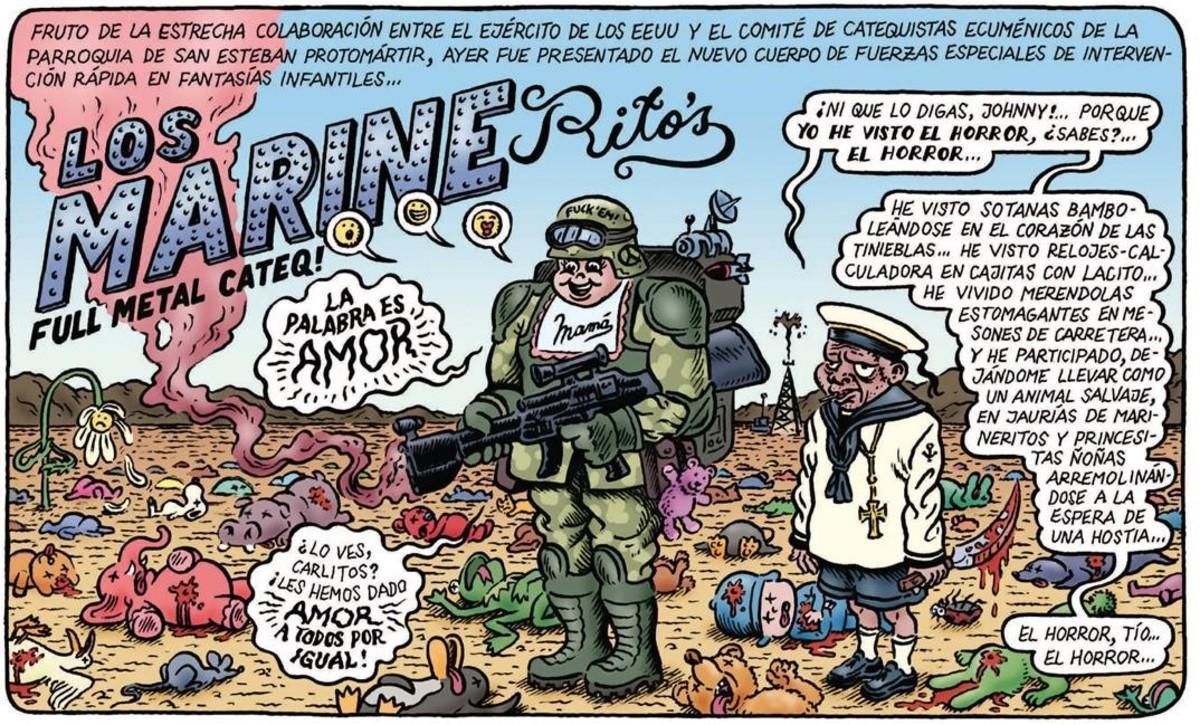 Viñeta de 'La gran aventura humana', de Miguel Brieva.