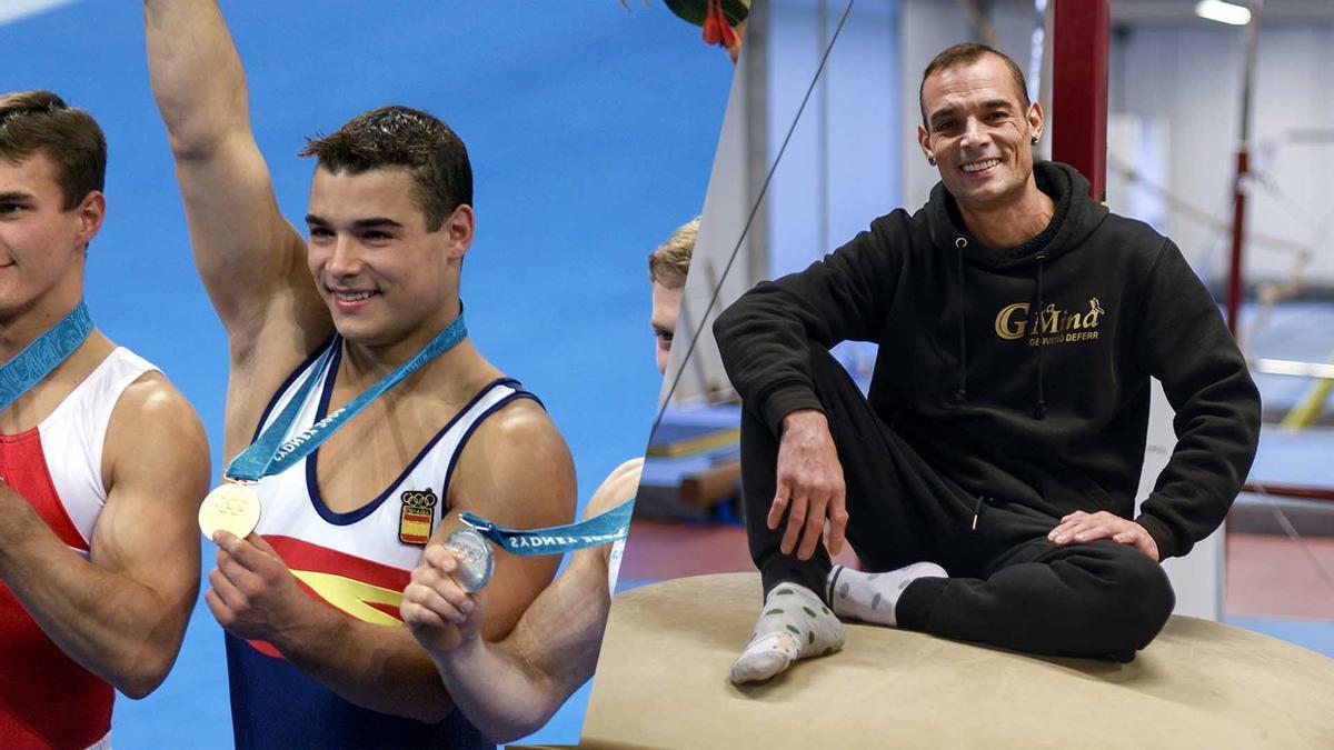 El bicampeón olímpico Gervasio Deferr nos enseña su gimnasio en el barrio de La Mina.