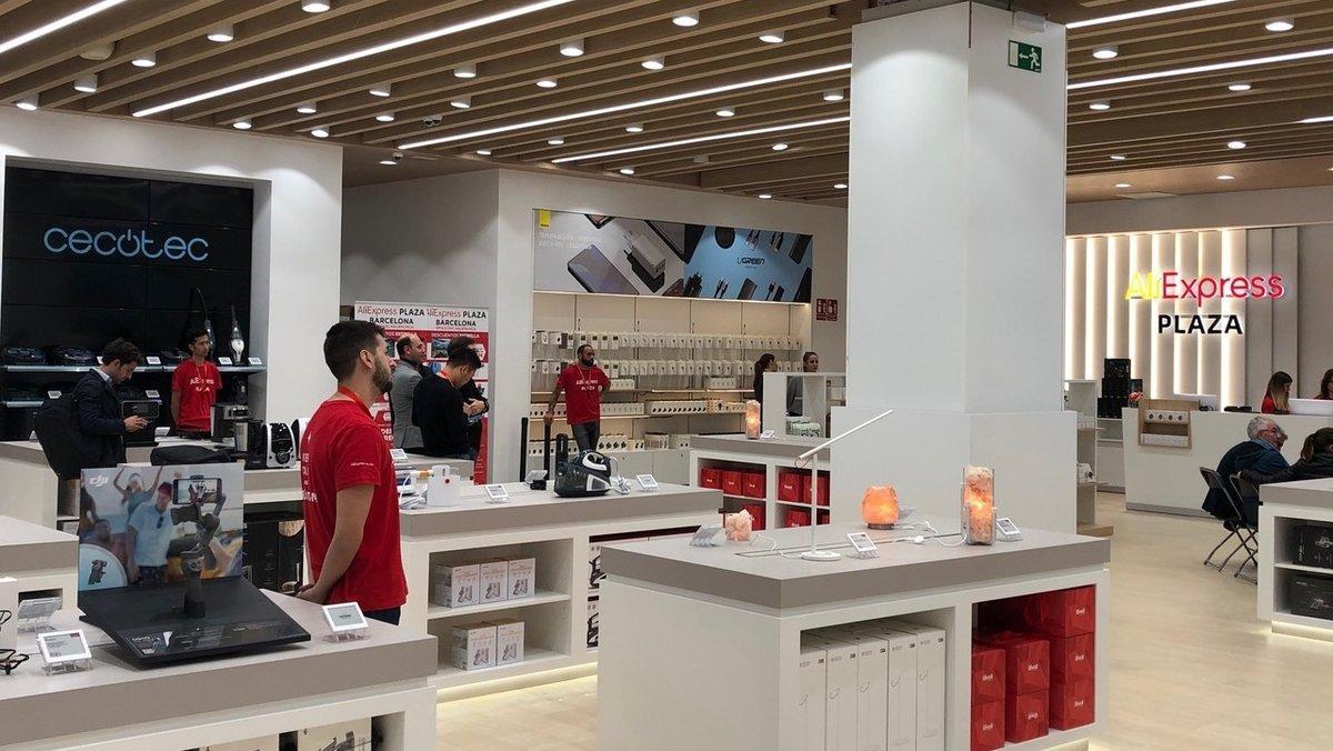 Imagen de la tienda de Aliexpress en el Finestrelles Shopping Centre, de Esplugues de Llobregat (Barcelona).