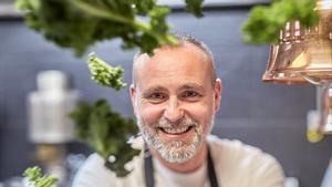 El chef de El Invernadero y Virens, Rodrigo de la Calle.