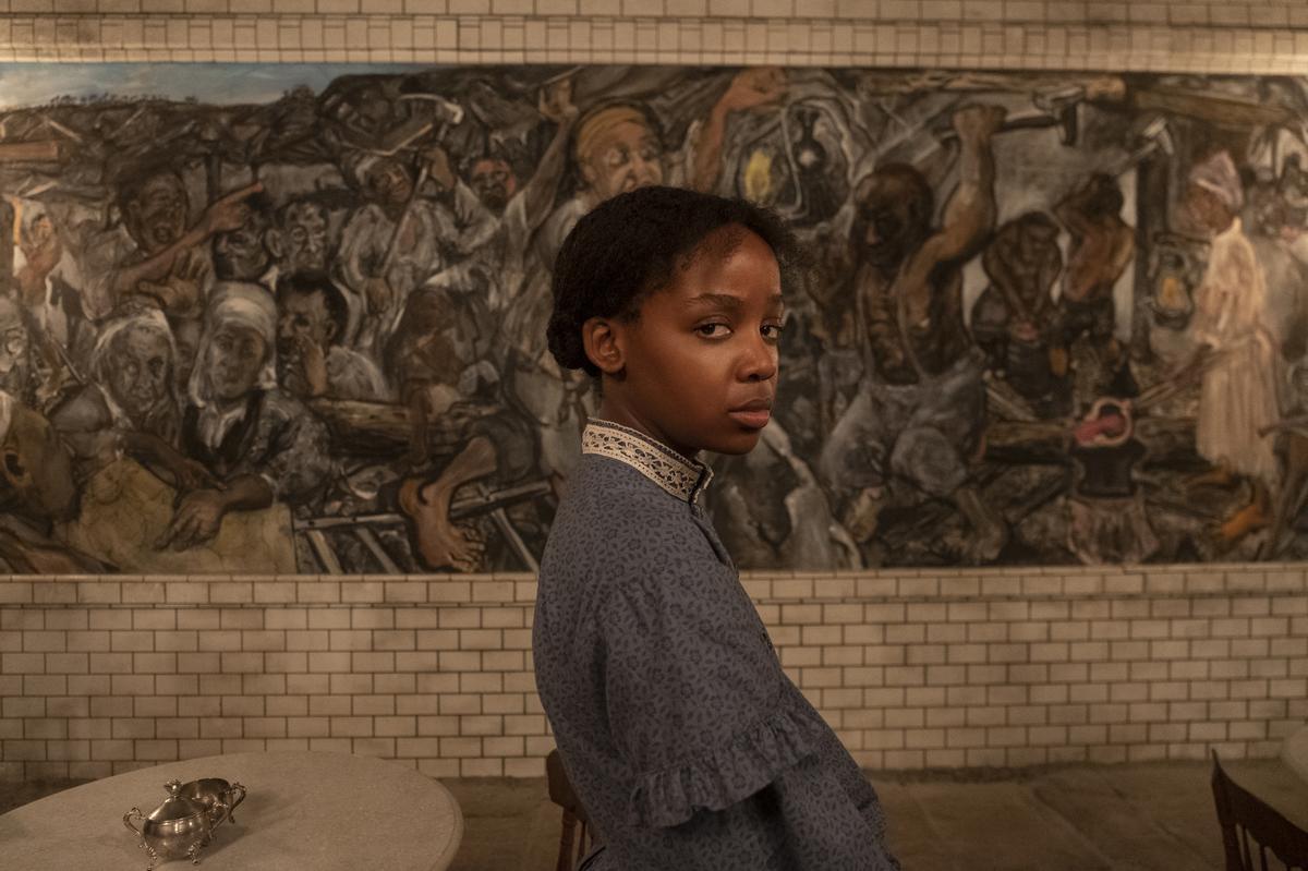 Thuso Mbedu en 'El ferrocarril subterráneo'.