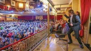 Quim Masferrer, este domingo, en el Teatre Casino L'Aliança del Poblenou de Barcelona.