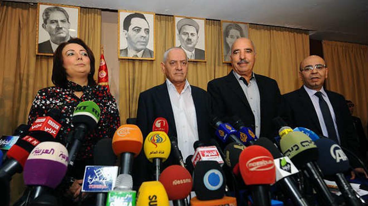 Entrega del premio Nobel de la Paz al Cuarteto de Diálogo Nacional de Túnez.