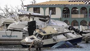 Destrozos causados por el huracán 'Irma' en Tortola (Islas Vírgenes Británicas), el 13 de septiembre.