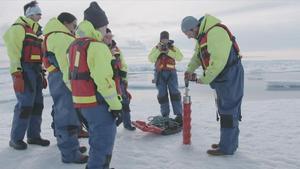 Trobats per primera vegada microplàstics al gel de l'Àrtic