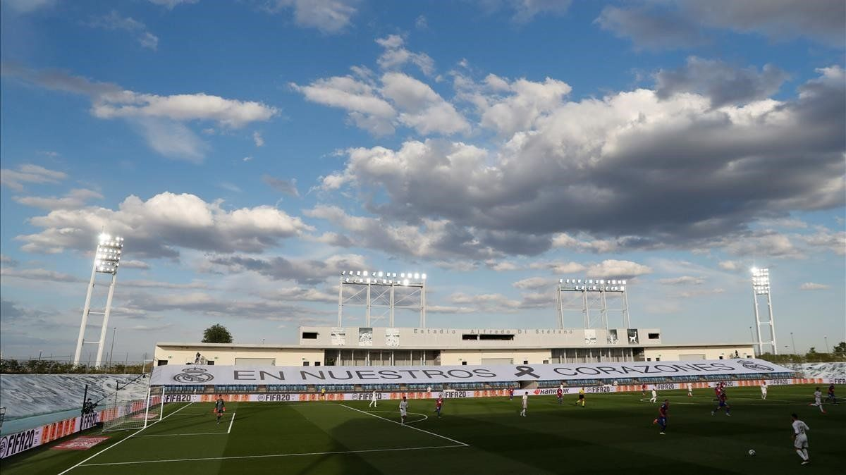 Panorámica del estadio Alfredo di Stéfano de Valdebebas durante el Real Madrid-Eibar.