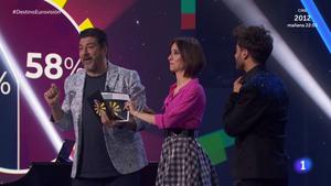Tony Aguilar, Julia Varela y Blas Cantó en 'Destino Eurovisión'