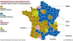 Los resultados de las elecciones francesas en mapas