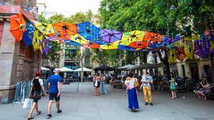 La plaza de la Vila de Gràcia acogerá diversas fiestas populares tradicionales.