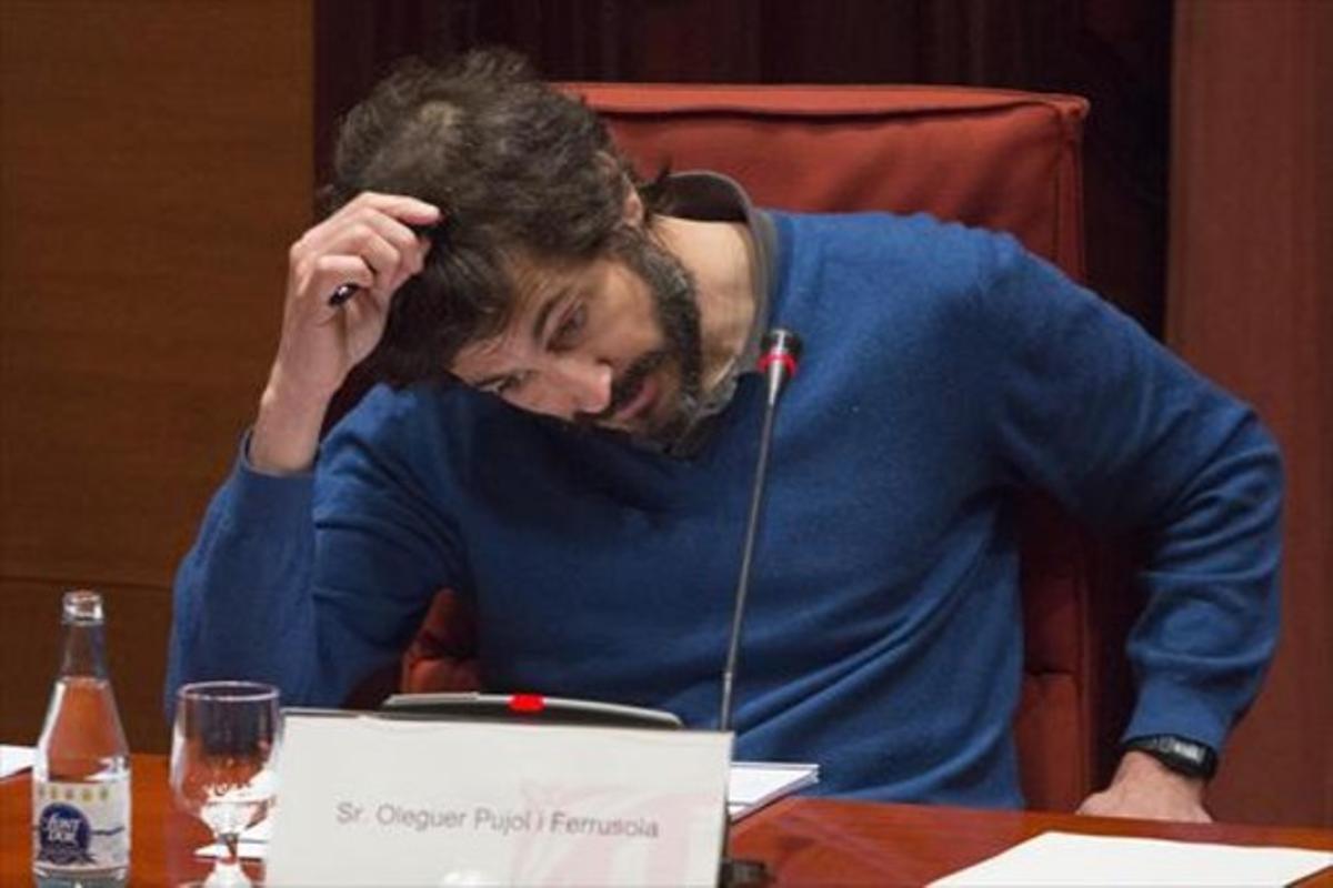 Oleguer Pujol, en su comparecencia en el Parlament de marzo pasado.