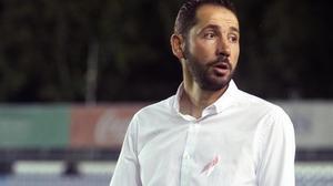 Pablo Machín, en un partido del Girona.