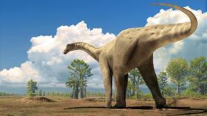 Reconstrucción de un dinosaurio en el Prepirineo catalán, hace unos 70 millones de años.
