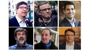 De izquierda a derecha y de arriba a abajo, Carles Mundó, Josep María Jové, Nacho Martín Blanco, Jordi Sánchez, Ramon Espadaler y Joan Josep Nuet, elegidos diputados este jueves.