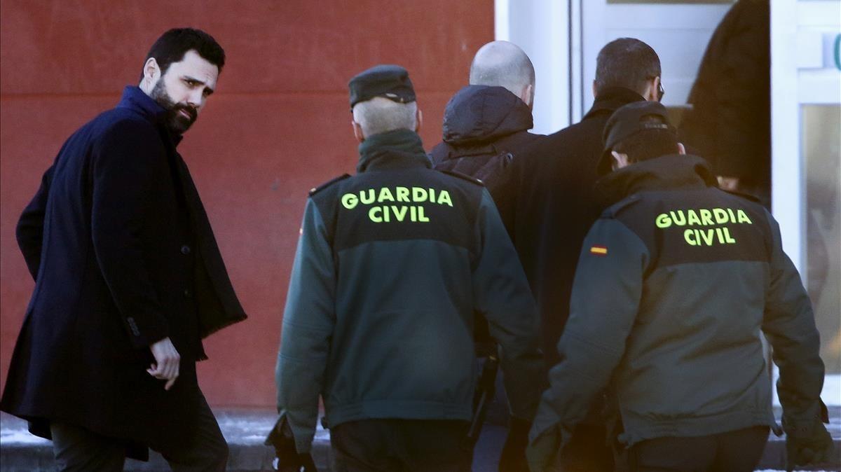 """Roger Torrent: """"Son víctimas de un juicio político, de una causa política"""". ."""
