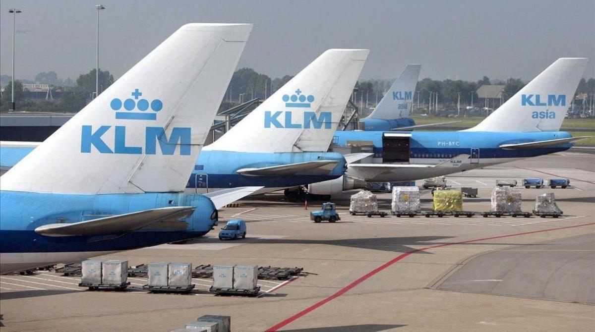 Aviones de la compañía KLM.