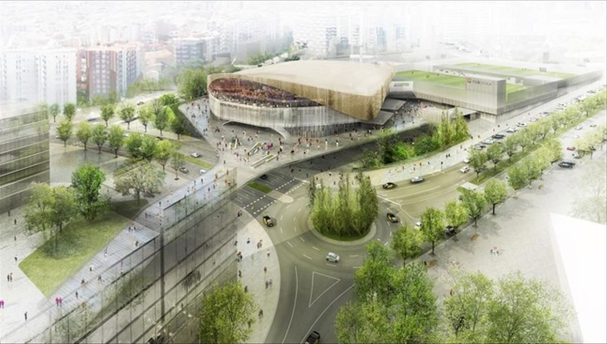 Vista general del nuevo Palau Blaugrana.