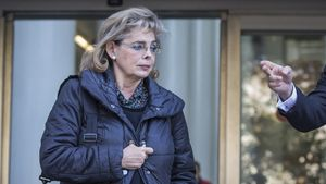 María José Alcón, tras declarar como cómplice en el Caso Taula, en noviembre del 2017.