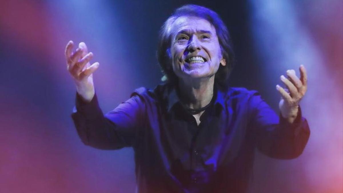 Raphael, en el concierto que ofreció el sábado en Cap Roig