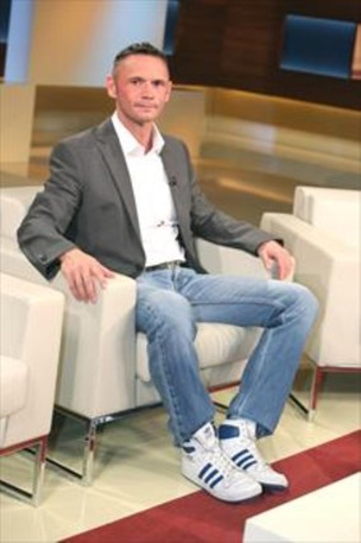 David Berger, en un coloquio en la televisión alemana ARD.