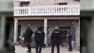 Los Mossos d'Esquadra han desarticulado una organización dedicada al tráfico de marihuana después de un año de investigación.