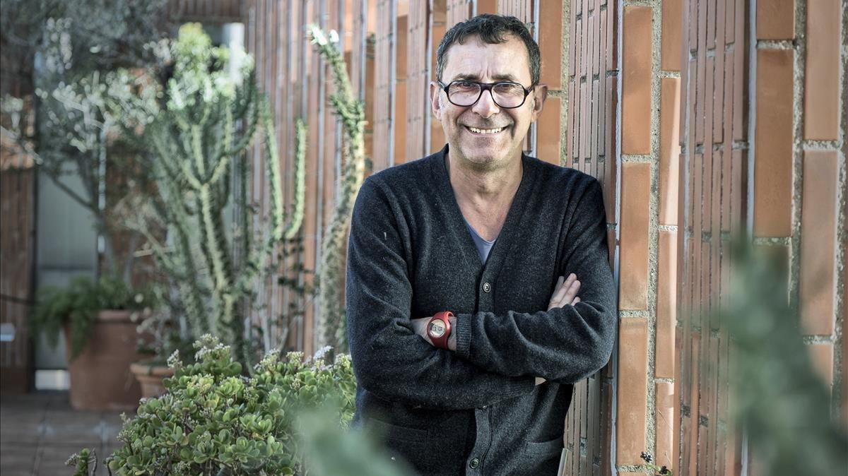 Didier Ruiz, en el ático del Instituto Francés de Barcelona.