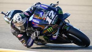 El catalán Maverick Viñales (Yamaha) ha vuelto a ser hoy el más rápido en el GP de Aragón.
