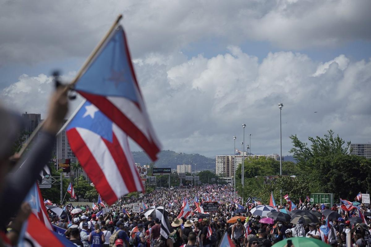 Protestas sociales en Puerto Rico.