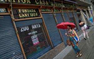 Negocios cerrados en Barcelona.
