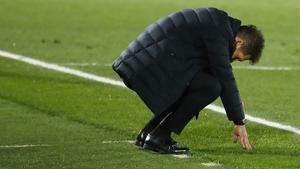 Diego Simeone, técnico del Atlético.
