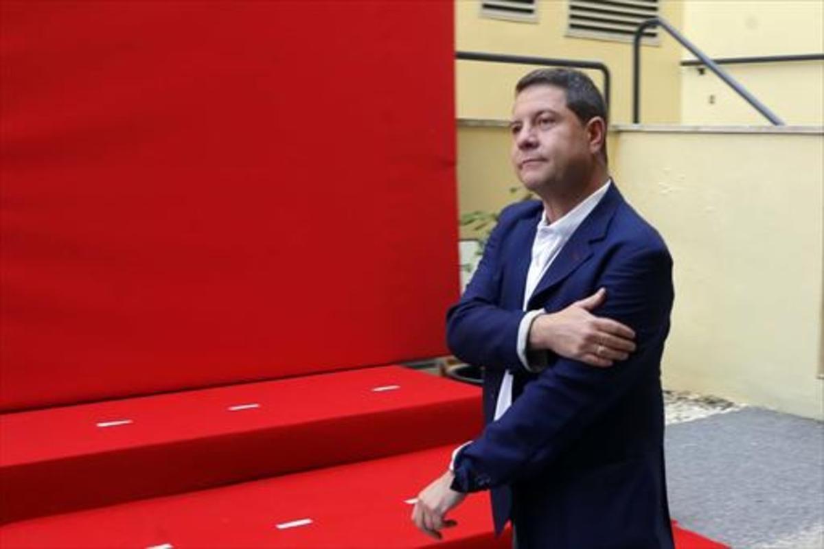 Emiliano García-Page, en el comité federal del PSOE de mayo del 2015.