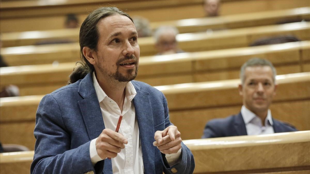 El vicepresidente segundo del Gobierno y ministro de Derechos Sociales y Agenda 2030, Pablo Iglesias, el pasado 14 de julio enel Senado.